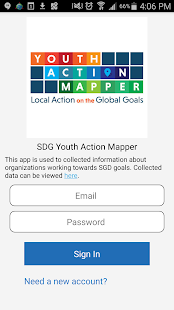 SDG Youth Action Mapper- screenshot thumbnail