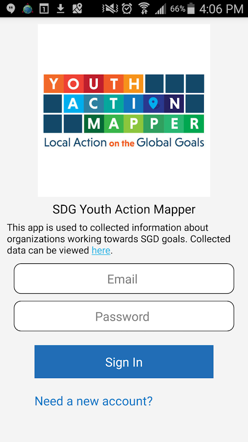 SDG Youth Action Mapper- screenshot