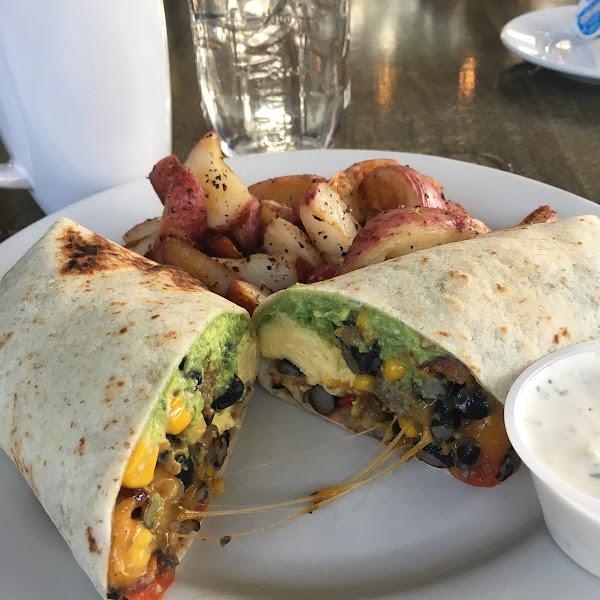 Hippy breakfast wrap