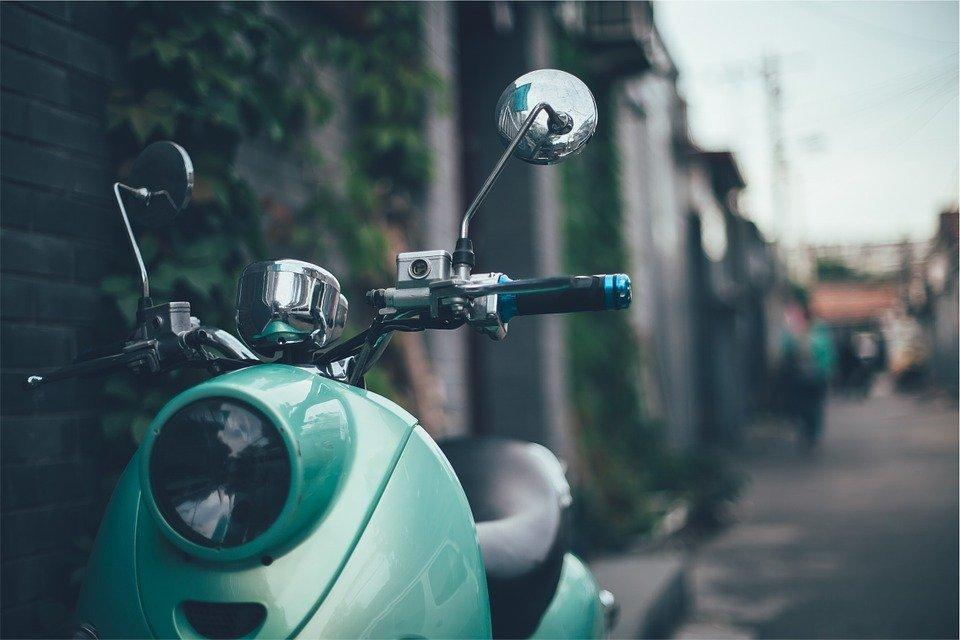 Scooter, Italy, Vintage, Old, Green, Motorcycle, Travel