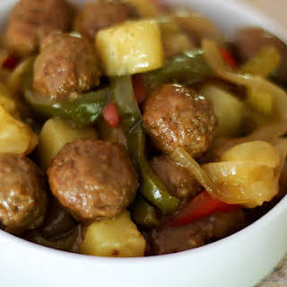 Crock Pot Sweet and Sour Meatballs.