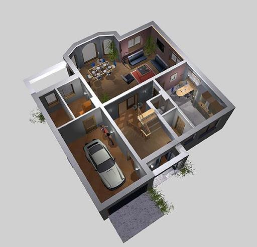APS 040 - Rzut parteru 3D