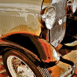Between two worlds,Real and Art by Benito Flores Jr - Digital Art Things ( car, vintage, photo, texas, killeen )