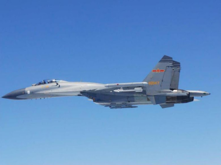 A Chinese jet similiar to those which intercepted a US aircraft. Picture: REUTERS