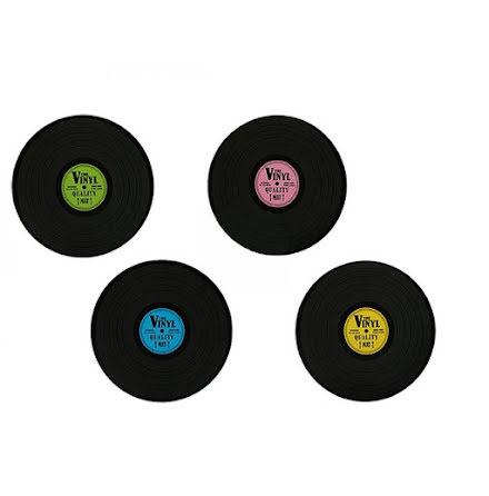 Bordsunderlägg LP-Skivor 4pack