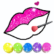 Glitter Lips with Makeup Brush Set coloring Game APK