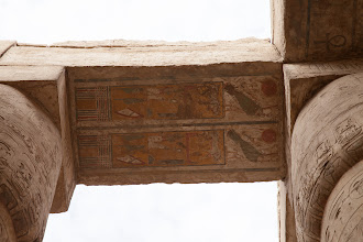 Photo: karnak , hypostyle hall, Horus name of Ramses II ?