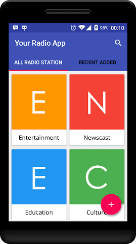 android Your Radio App Demo Screenshot 1