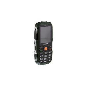 Telefon militar H628, 3800 mAh, Dual SIM, FM radio, lanterna, verde-gri