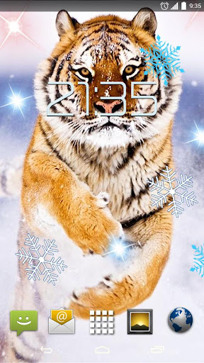 Snow Tiger 4K Live Wallpaper