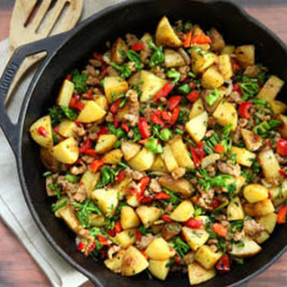Broccolini Hash with Peppers