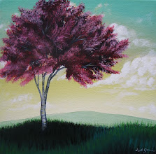 Photo: Plum Tree - 10x10 Acrylic on Canvas