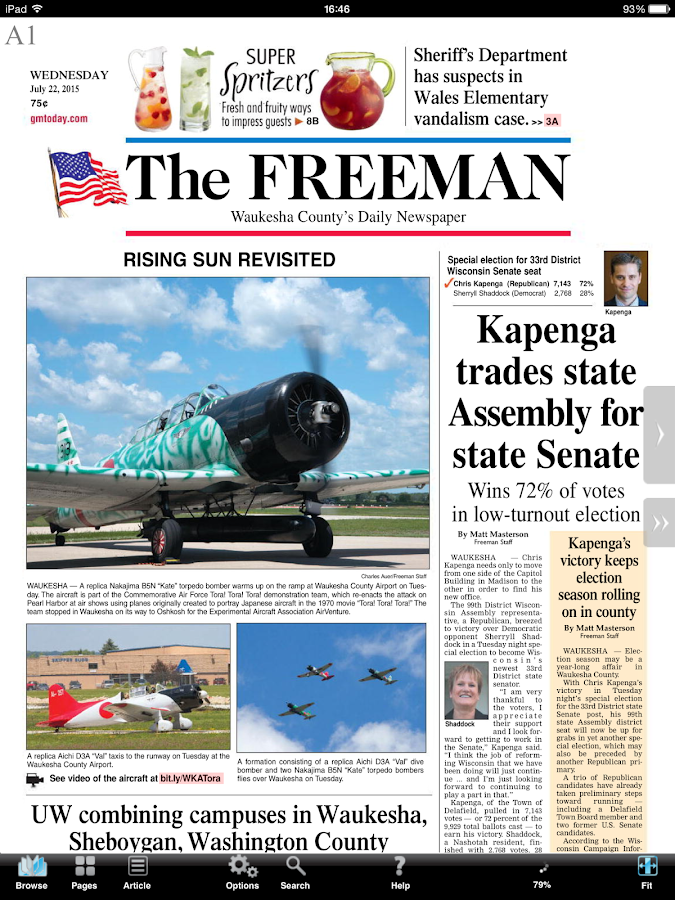Waukesha Freeman- screenshot