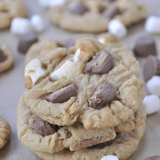 Marshmallow Chocolate Irresistible Peanut Butter Cookies.