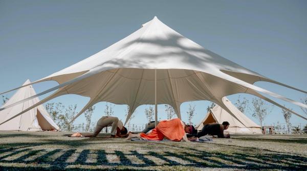 南投-免裝被露營-山思雲想-早晨瑜伽
