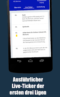 Live Fußball Bundesliga App - Ticker & Ergebnisse - náhled