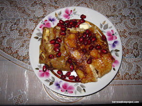 Photo: For breakfast: Russian crepes (Bleeny) with butter and pomegranate seeds (Wow!)