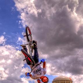 Upside Down by Darin Williams - Sports & Fitness Cycling ( bike, half-pike, bmx, stunt, bicycle,  )