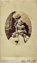 Photo: Wallace's wife Anne and their son Bertie aged 13 or 14 months. The image is in carte de visite format. Photographer: Fradelle. First published by the A. R. Wallace Memorial Fund  & G. W. Beccaloni in 2010. Scanned with permission from the original owned by the Wallace family. Copyright of scan and owner of Publication Right: A. R. Wallace Memorial Fund & G. W. Beccaloni.