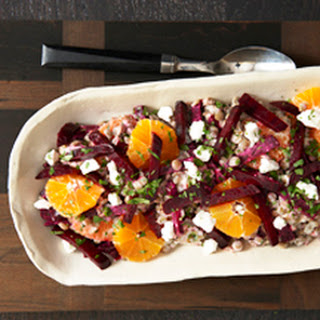 Lentil Citrus Salad with Goat Cheese.