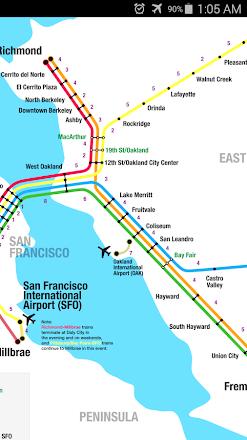 San Francisco Metro Map Apps On Google Play