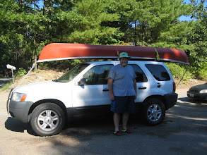Photo: Steve with his canoe - ready to go