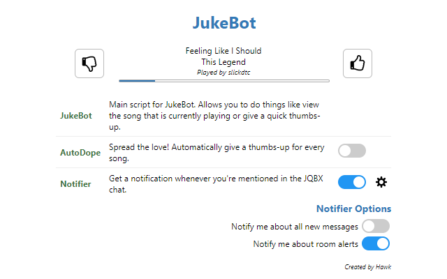 JukeBot - The #1 JQBX helper!