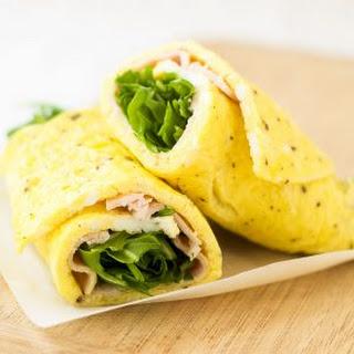 Turkey Arugula Omelet Roll.