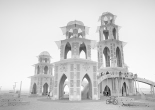 Photo: Temple in White  Every year at Burning Man a new temple is built. People come to the temple and write little notes, secrets, regrets, or let things go in their own way. There is something about the idea of building these beautiful structures so that they can be burned down along with the things inside that is entirely unique and wonderful...  #SICInDatabase