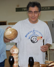"""Photo: ...and here is the completed maple pot that he turned in our July """"dueling lathes"""" demonstration..."""