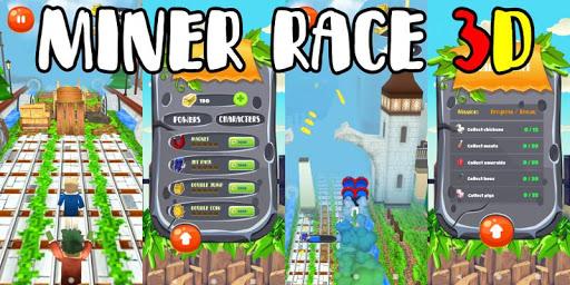 Télécharger Miner Race 3D mod apk screenshots 1
