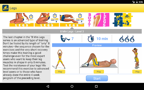 Legs Workout and Exercises- screenshot thumbnail