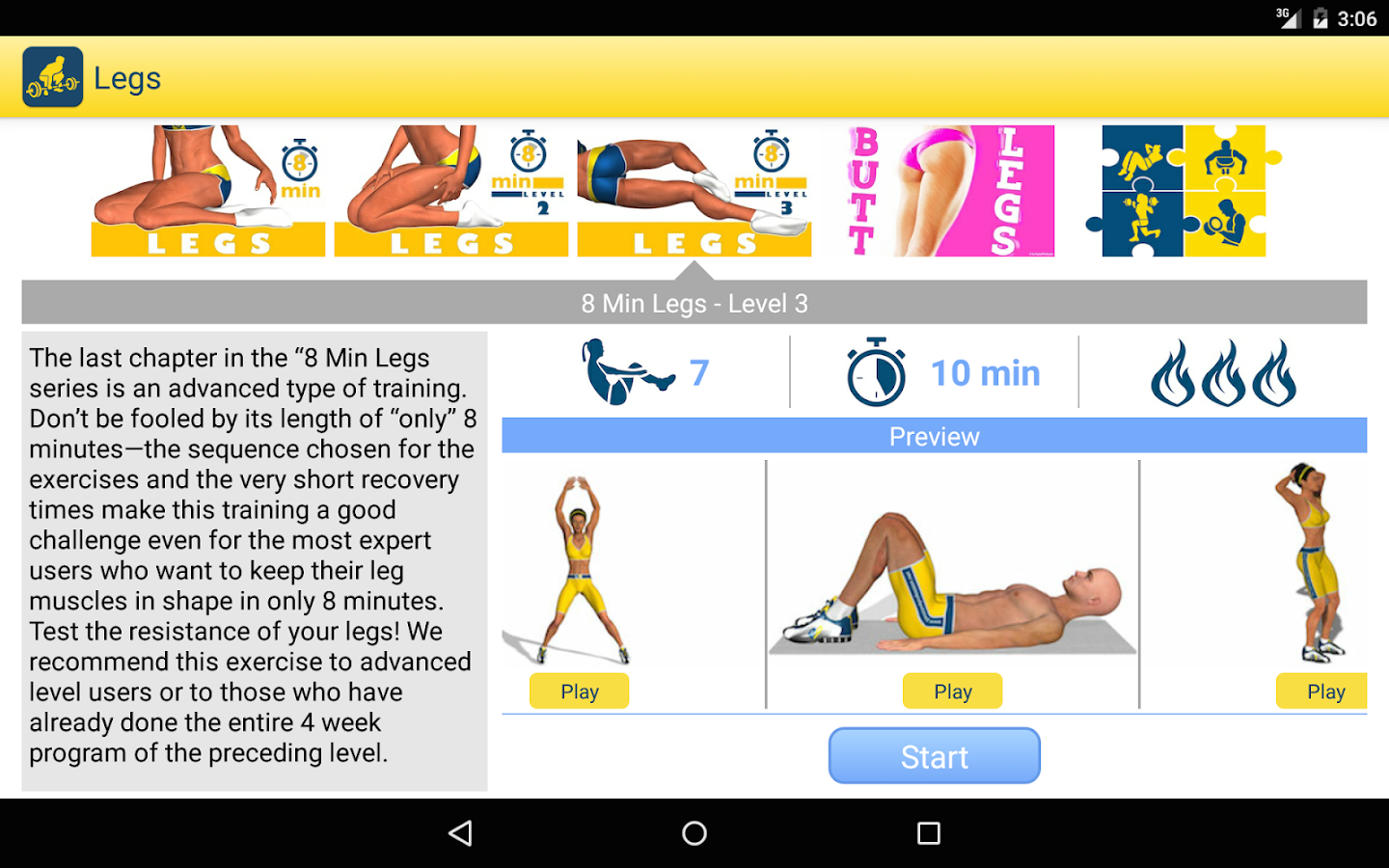 Legs Workout and Exercises- screenshot