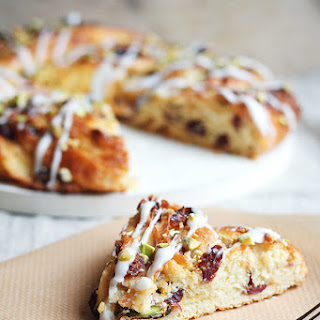 Pistachio and Cranberry Couronne