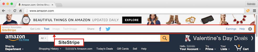 Amazon affiliate marketing: SiteStripe