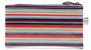Stripe Classic Makeup Bag