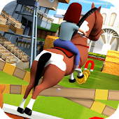 Cartoon Horse Riding Game