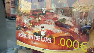 El roscón de los mil euros, en la calle Ferrocarril.