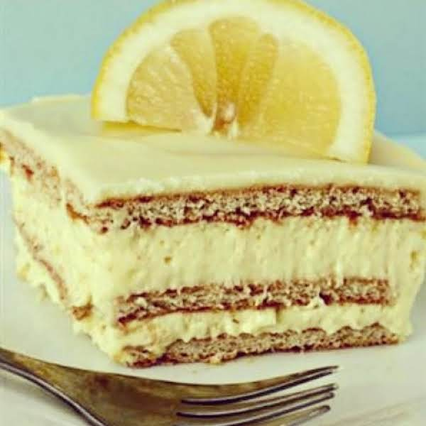 No Bake Lemon Ice Box Cake, Iris Recipe