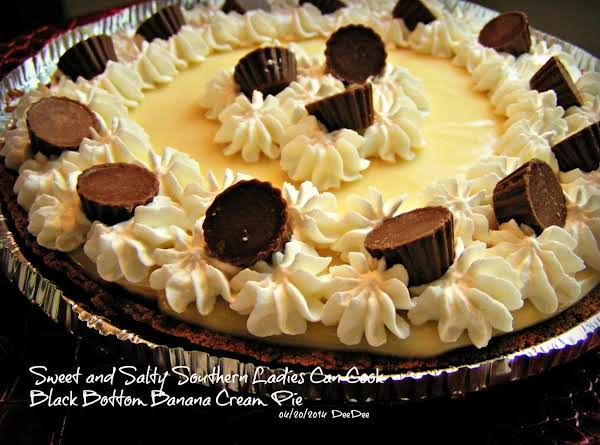 Black Bottom Choco-peanut Butter Banana Cream Pie Recipe