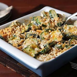 Crumb-Topped Cheesy Zucchini Casserole