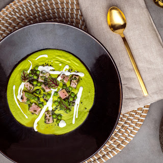 Green Pea Soup with Ham.