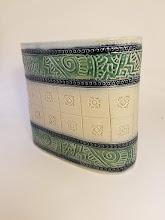 Photo: Ceramic vase Ginger Steele artist www.insomniapottery.com