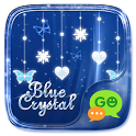 (FREE) GO SMS BLUE CRYSTAL THEME icon