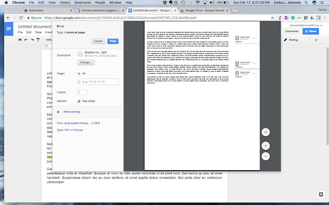 Print Google Doc With Comments