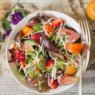 Strawberry Fig Caprese Salad
