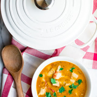 Dairy-free Seafood Bisque.