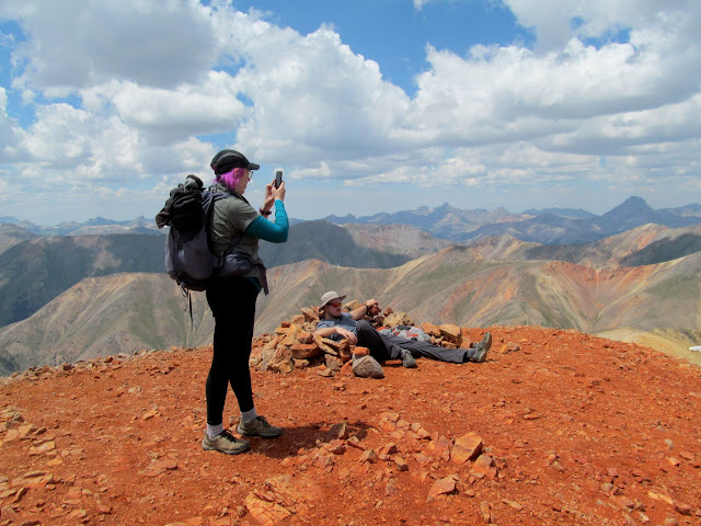 Dollie and Chris on the summit of Redcloud Peak