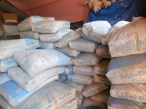 Photo: Sacks of cement for construction