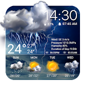 Weather Widget Raining Drops